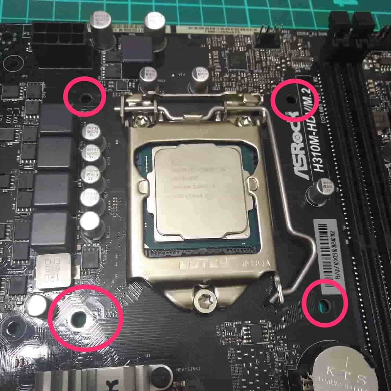CPUを取り付ける1