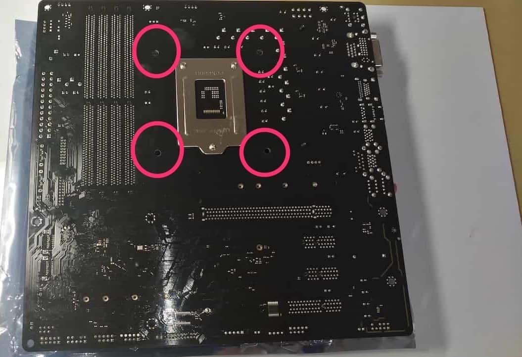 motherboard back